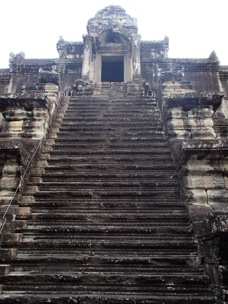 Very steep stairs - Angkor Wat