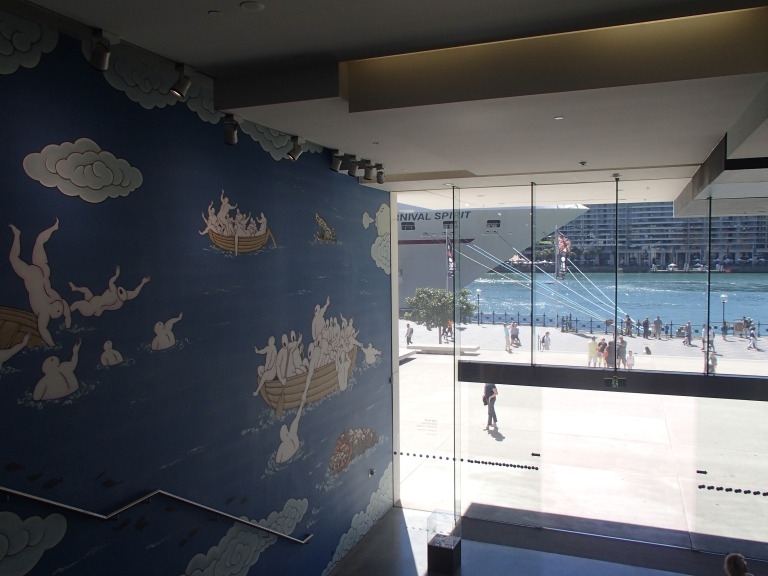 Sneaky view of the Harbour from inside the MCA