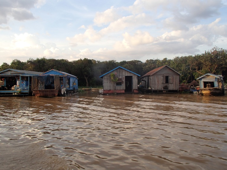 Homes on Tonle Sap