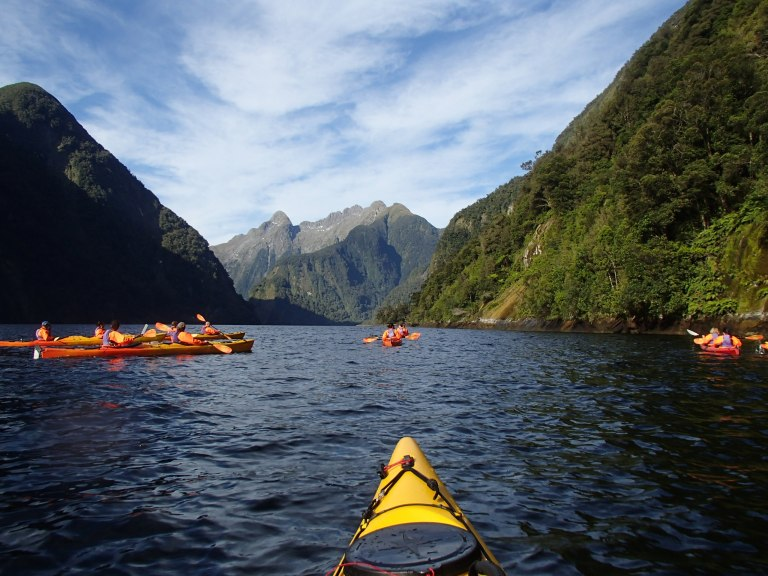 Kayaking on Doubtful Sound, NZ